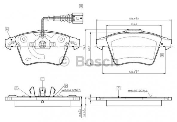 Volkswagen Transporter Ön Fren Balatası T5- T6 2003-2016 Bosch Marka
