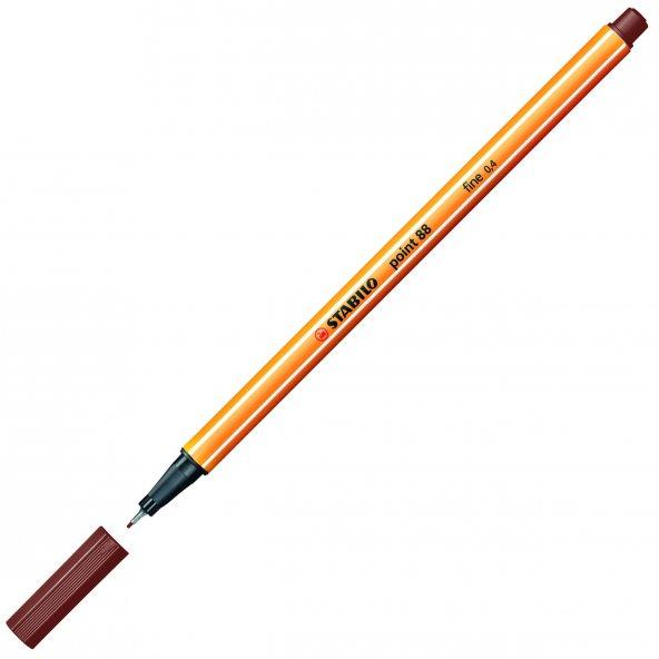 Stabilo Point 88 Keçe Uçlu İnce Kalem Kahverengi-45