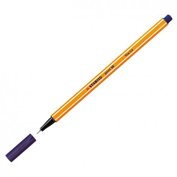 Stabilo Point 88 Keçe Uçlu İnce Kalem Lacivert-22