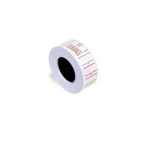 Fiyat Etiketi Beyaz Rubenis Elegance 12x21 mm, 10 Rulo