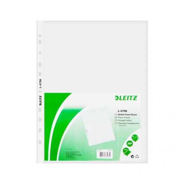Leitz L-4796 Poşet Dosya A4 , 100'lü Şeffaf Buzlu