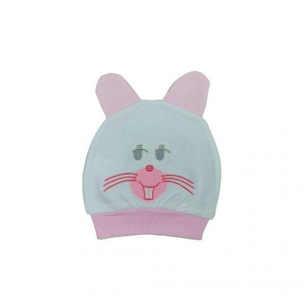 Kız Erkek Bebek Tavşan Modelli Bere