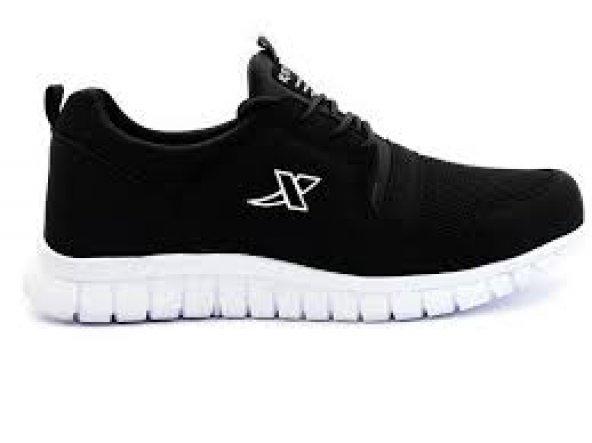 Xstep Günlük Spor Ayakkab Bayan Siyah İnce Bağcık