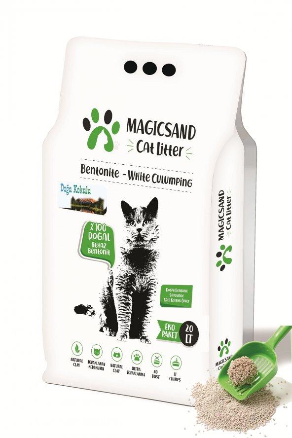 Magicsand Cat Litter Doğa kokulu Kedi Kumu 20 lt İnce Taneli