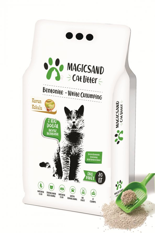 Magicsand Cat Litter Kavun kokulu Kedi Kumu 20 lt İnce Taneli