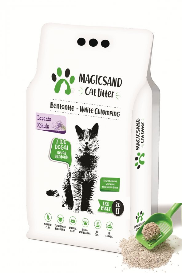 Magicsand Cat Litter Lavanta kokulu Kedi Kumu 20 lt İnce Taneli