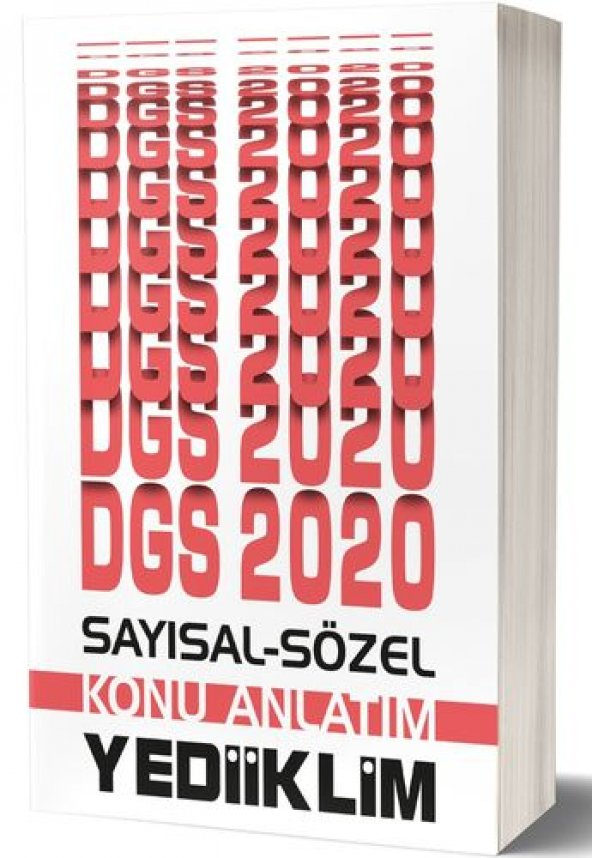 YEDİİKLİM 2020 DGS SAYISAL-SÖZEL BÖLÜM KONU ANLATIMI
