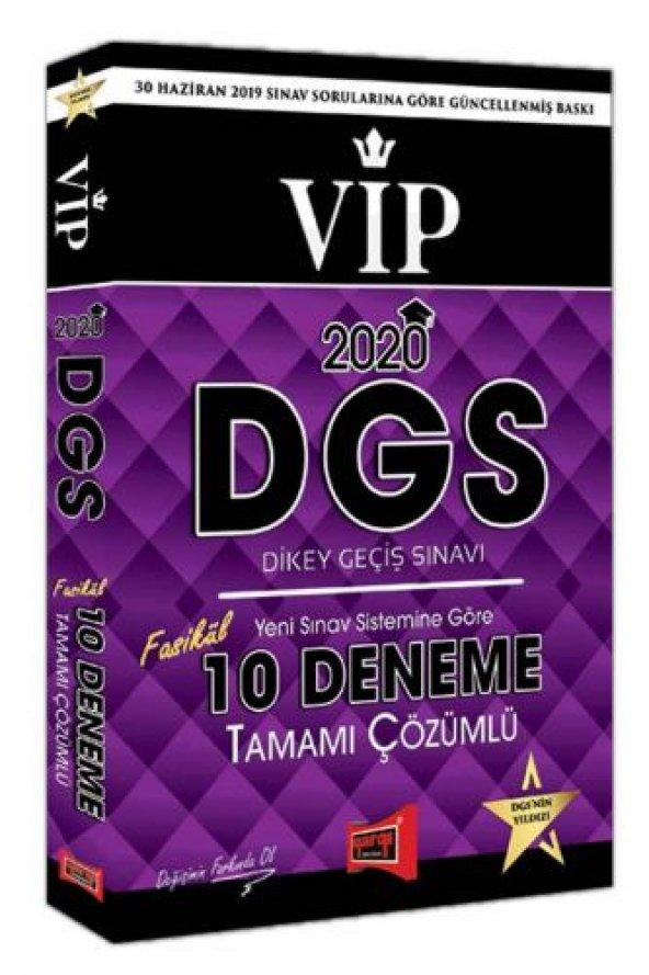 Yargı Yayınları 2020 DGS VIP Tamamı Çözümlü 10 Fasikül Deneme