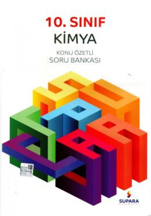 Supara Yayınları10.Sınıf Kimya Konu Özetli Soru Bankası