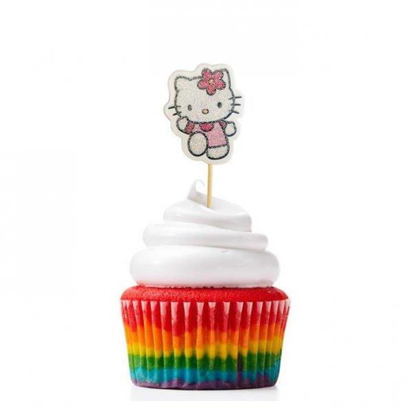 Hello Kitty Cupcake Muffin Kürdanı 20 Adet