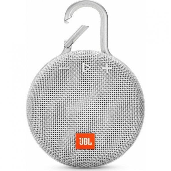 JBL Clip 3 IPX7 Su Geçirmez Taşınabilir Bluetooth Hoparlör Beyaz