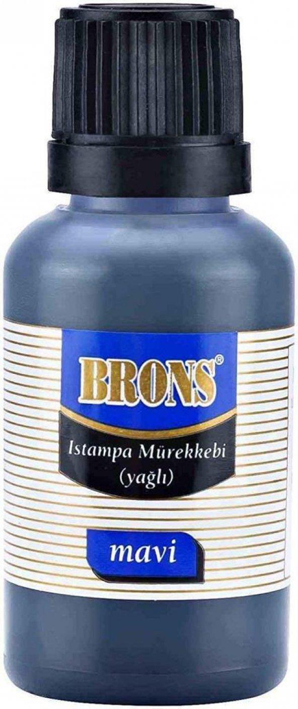 Brons BR-315 Istampa Mürekkebi Yağlı 30 ml Mavi