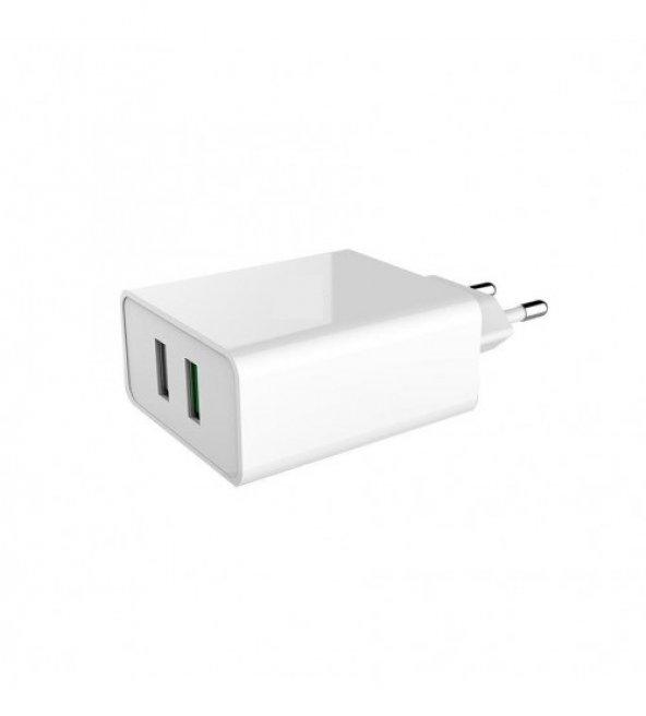 2 USB Çıkışlı Şarj Adaptörü