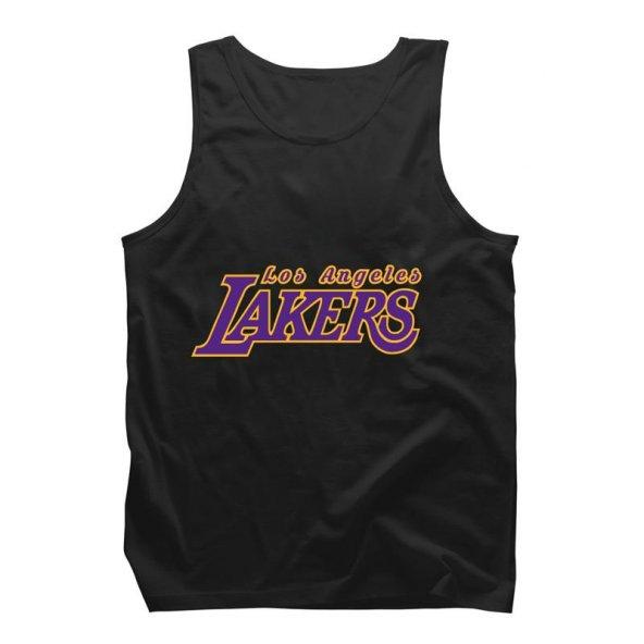 All-Star Los Angeles Lakers Type Siyah Askılı Atlet