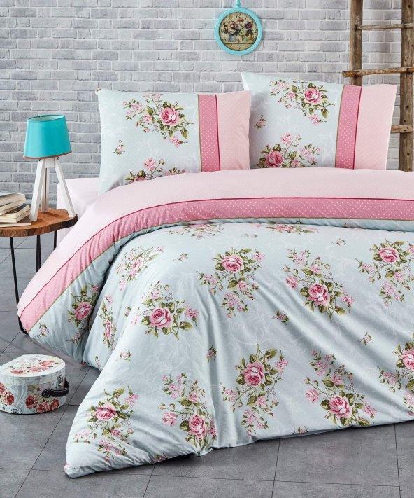 Nevresim Takımı - Poplin - Soft Renkler - %100 Pamuk  - Çift Kişilik - ŞirinEv - Rose