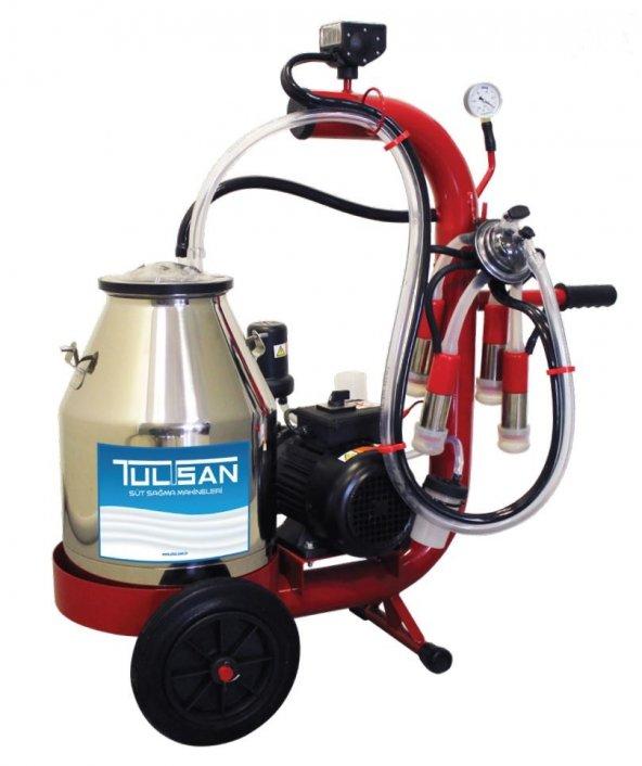 Tulsan Mini Tip Tek Sağım Kuru Tip Paslanmaz Güğüm Süt Sağma 30 Lt