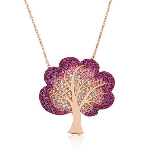 Gümüş Hayat Ağacı Bayan Kolye