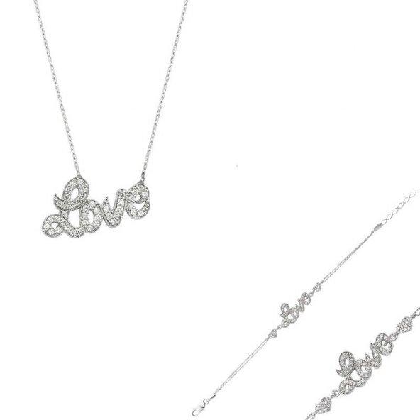 Gümüş Love Set