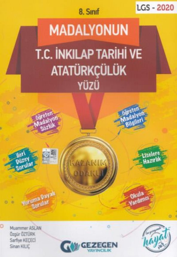 8. Sınıflar İçin Madalyonun İnkılap Tarihi ve Atatürkçülük - Geze