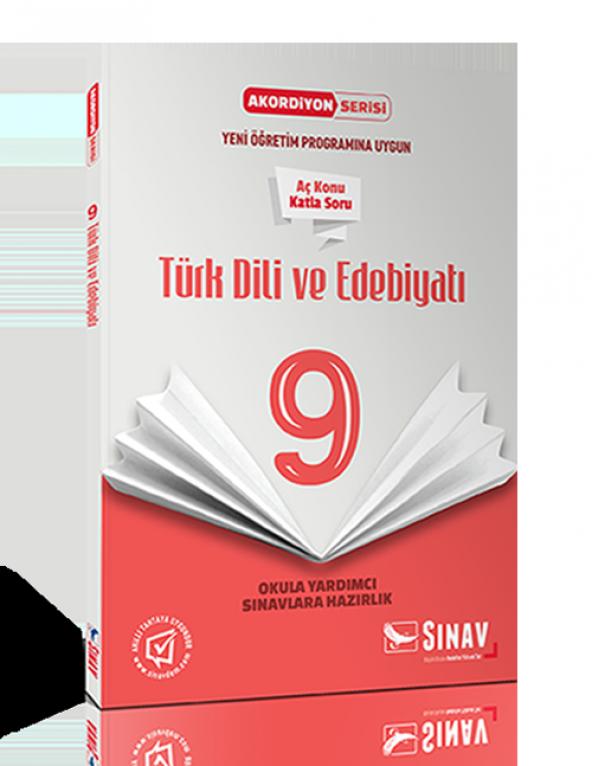 Sınav Yayınları 9. Sınıf Türk Dili ve Edebiyatı Akordiyon Kitap