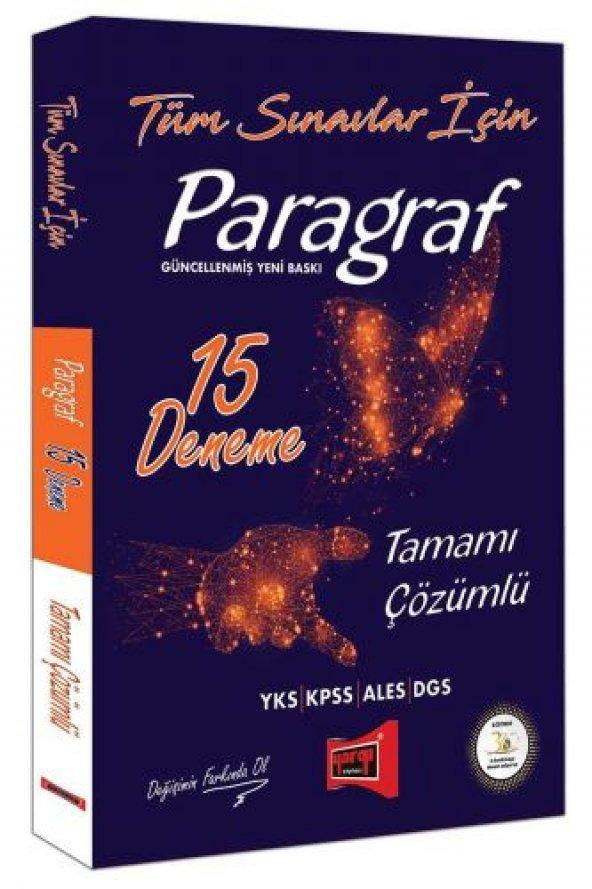 Yargı Yayınları Tüm Sınavlar İçin Paragraf Tamamı Çözümlü 15 Dene