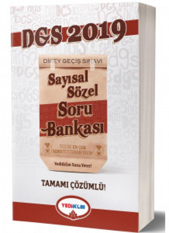 2019 DGS Tamamı Çözümlü Soru Bankası Yediiklim Yayınları
