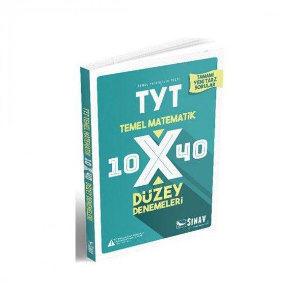 TYT Matematik 10x40 Düzey Denemeleri Sınav Dergisi Yayınları