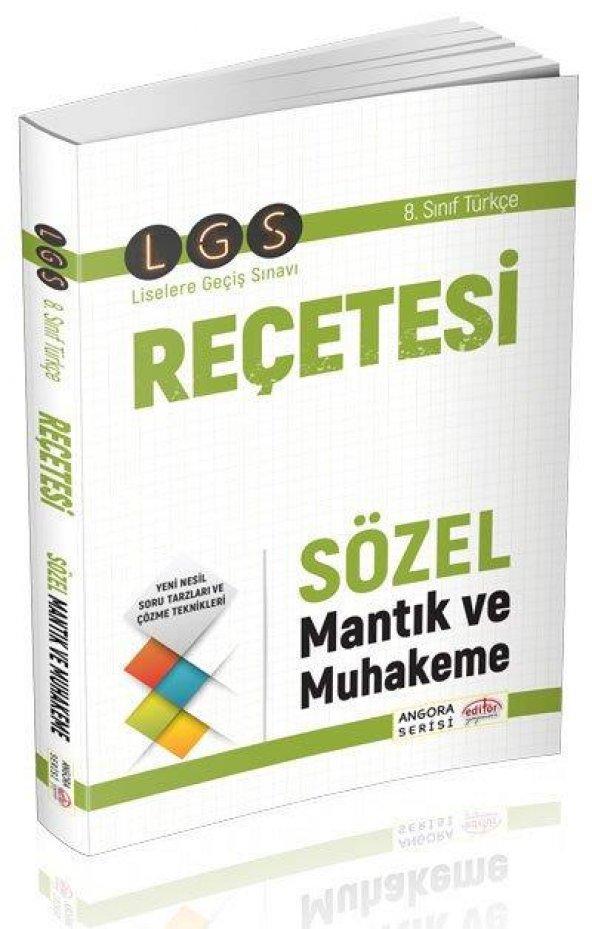 LGS Reçetesi Sözel Mantık ve Muhakeme Angora Serisi Editör Yayıne