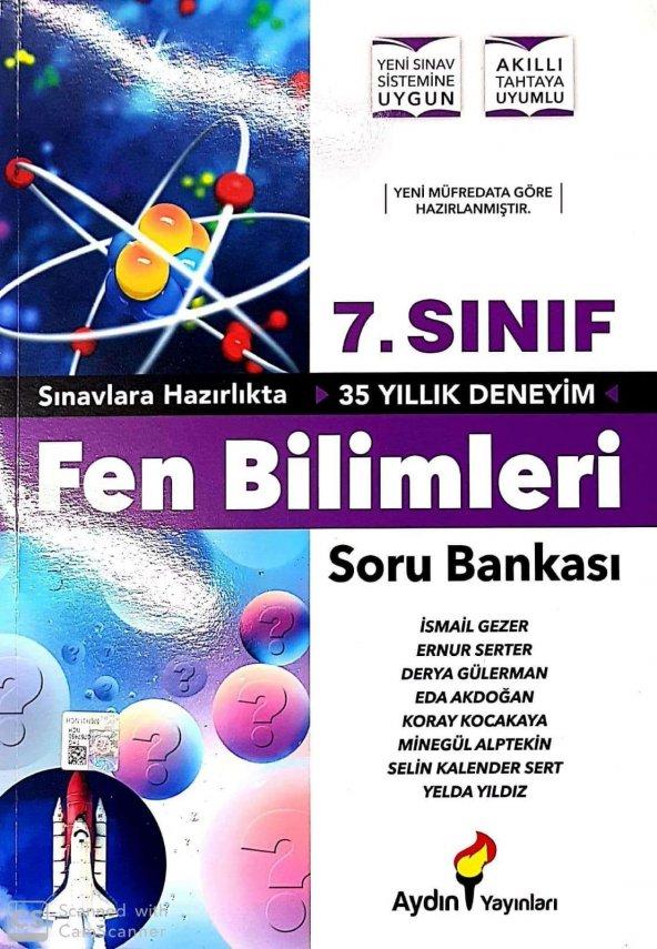 7. Sınıf Fen Bilimleri Soru Bankası Aydın Yayınları