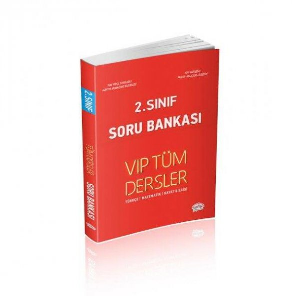 2. Sınıf Tüm Dersler VIP Soru Bankası Kırmızı Kitap Editör Yayıne