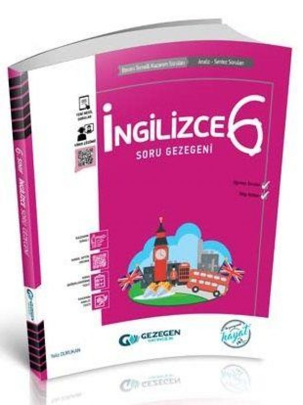 Gezegen Yayınları 6. Sınıf İngilizce Soru Gezegeni