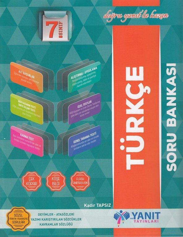Yanıt Yayınları 7. Sınıf Türkçe Soru Bankası