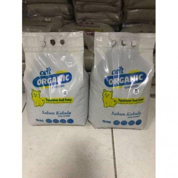 Cat Organik Bentonit İnce Taneli Kedi Kumu Sabun 5*10kg