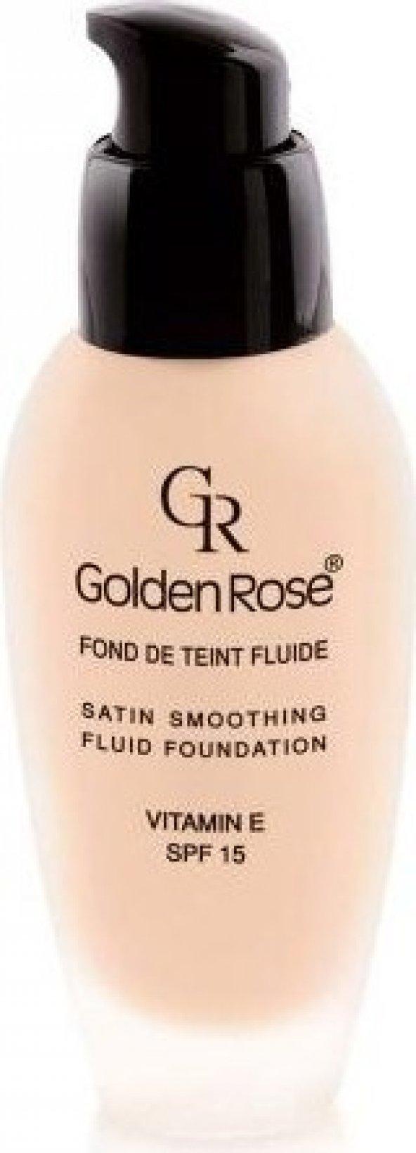 Golden Rose Satin Smoothing Fluid Foundation - Fondöten - 27