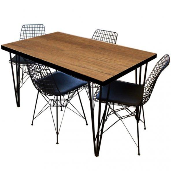 Metal Ayaklı Mutfak Masası Tek Grande Home