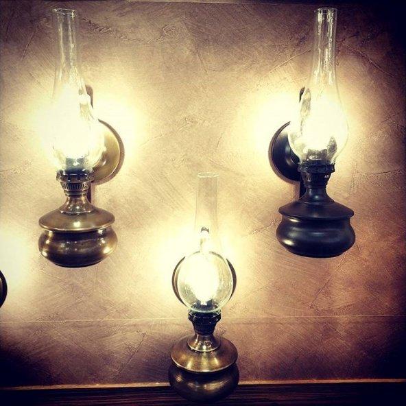 Eskitme Gaz Lambası Aplik Aydınlatma