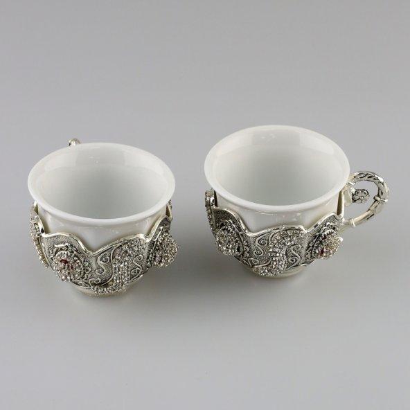 Gümüş-Porselen Lüks Zemzem Takımı