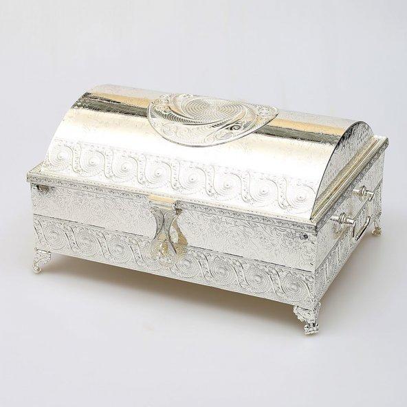 Dev Boy Telkari Gümüş Mücevher Sandık