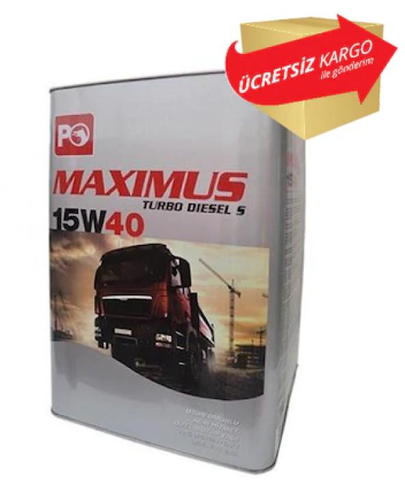 PETROL OFİSİ MAXIMUS TURBO DIESEL S 15W40 18LT 16KG TNK