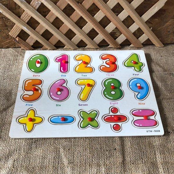 Ahşap Bul-Tak Matematik İngilizce Dört İşlem