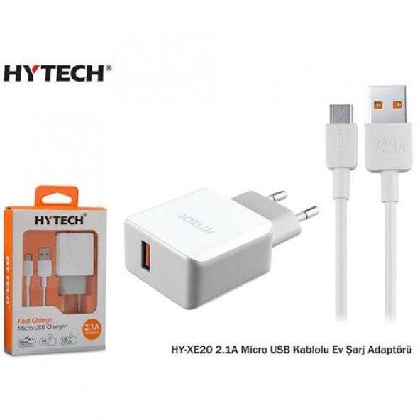 Hytech HY-XE20 2.1A Micro USB Kablolu Ev Şarj Adaptörü
