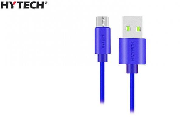 Hytech HY-X81 1m 2A Micro Usb Mavi Şarj Kablosu