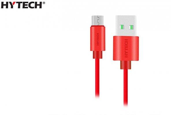 Hytech HY-X81 1m 2A Micro Usb Kırmızı Şarj Kablosu