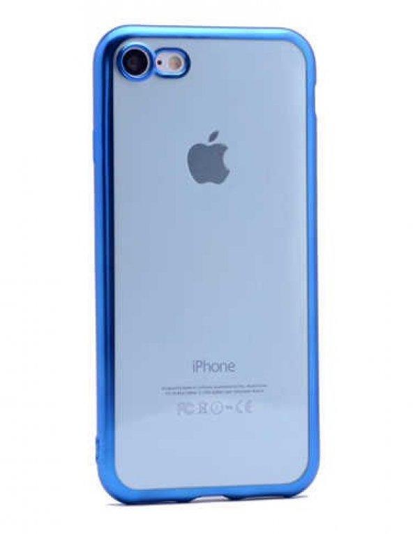 Apple iPhone 7 Kılıf Zore Lazer Kaplama Silikon