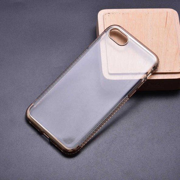 Apple iPhone 8 Kılıf Zore Tek Sıra Taşlı Silikon