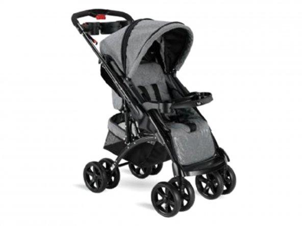 Babyhope BH-609 Polo Çift Yönlü Bebek Arabası Gri