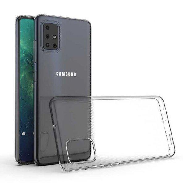 Galaxy A51 Kılıf Zore Süper Silikon Kapak + Cam Ekran Koruyucu Hediye