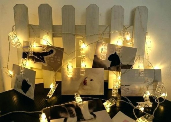 20 li Led Işıklı Fotoğraf Mandalları