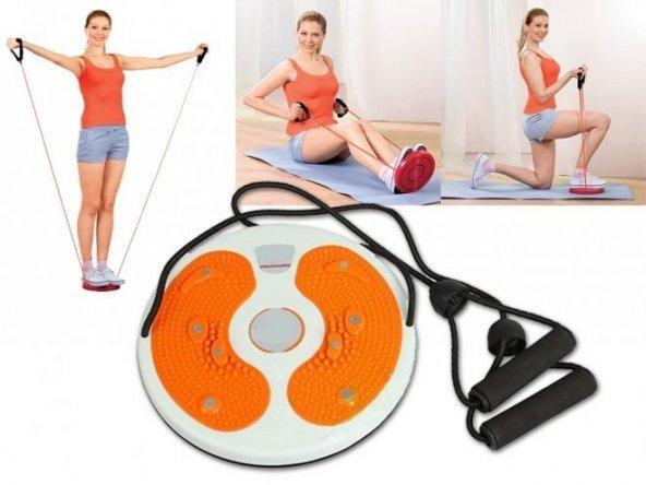 Bel İnceltici Spor Aleti Waist Twisting Disc (İpli)