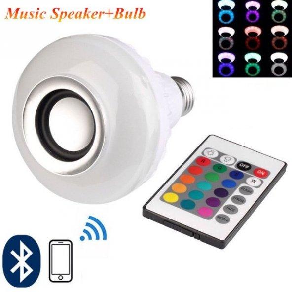 Bluetooth Hoparlörlü Akıllı LED Ampül Renkli